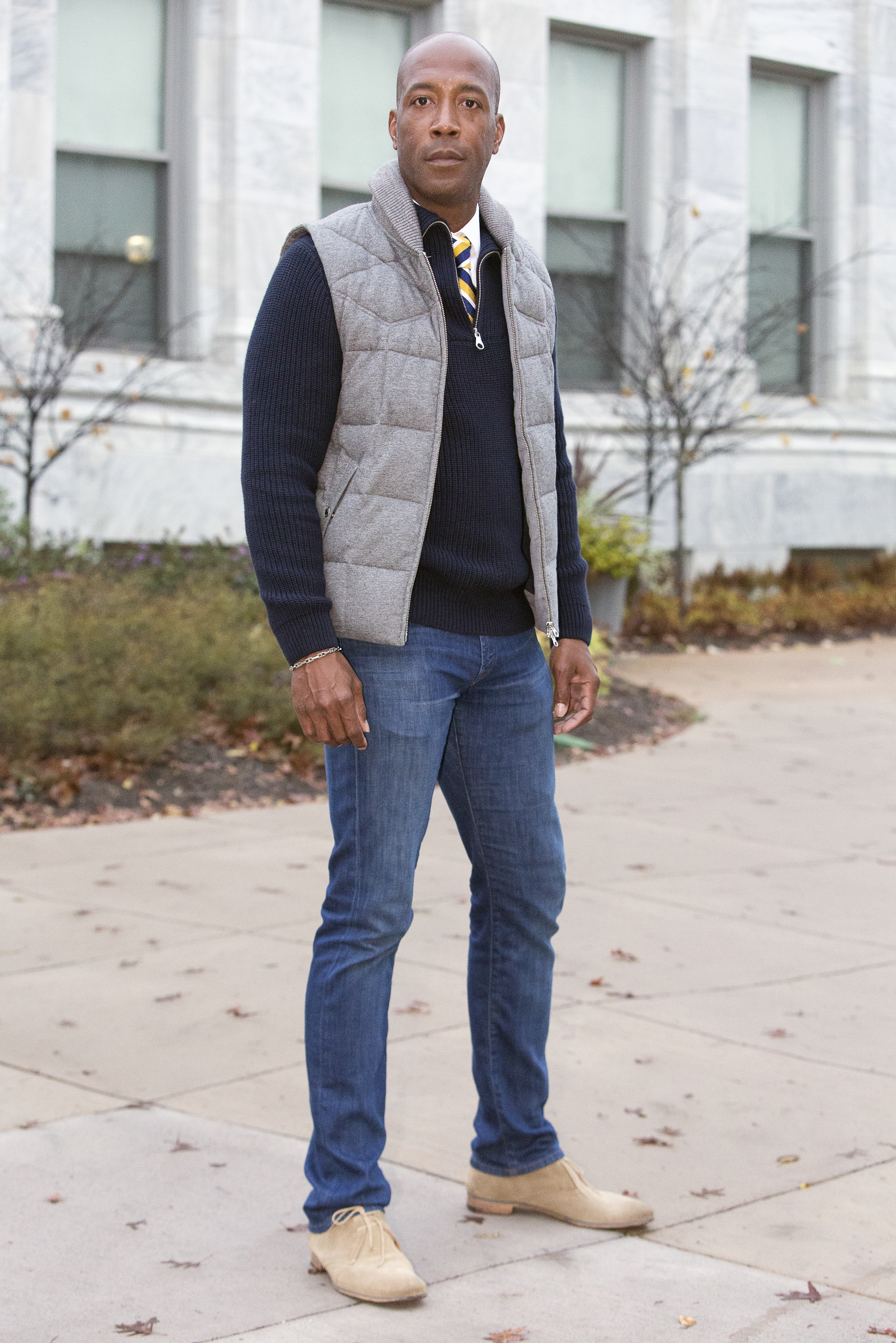 A down vest for homecoming: an outwear essential - The DCFashion Fool